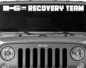 H2 Recovery Team Windshield Vinyl Decal