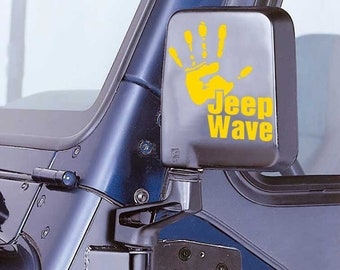 Jeep Wave With Star Wars Imperial Signet Decal - Jeep Hand Decal Jeep Sticker - Jeep Sticker - Jeep Wrangler Wave Truck Automotive Decals