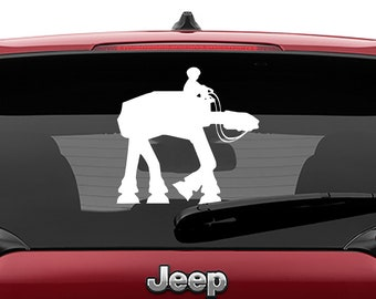 Star Wars Inspired Boy Riding AtAt Vinyl Decal | Boy Riding At-At Tumbler Decals | Boy Riding At At Laptop Vinyl Decal