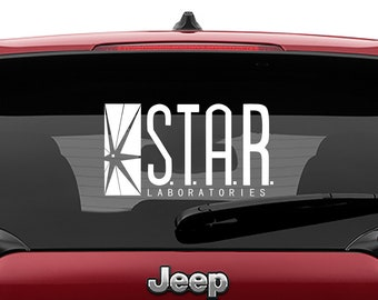 STAR Laboratories Vinyl Decal | Flash S.T.A.R. Labs Tumbler Decals | S.T.A.R. Labs Vinyl Decal