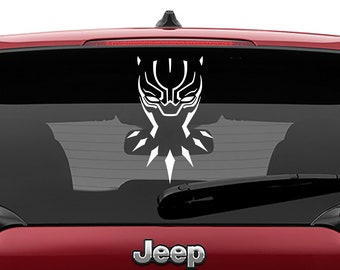 Black Panther Mask Vinyl Decal | Black Panther Mask Tumbler Decals | Tribal Black Panther Mask Decal