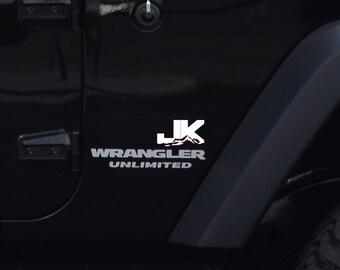 Jeep Wrangler Unlimited JK Mountain 2pc Fender Vinyl Decals