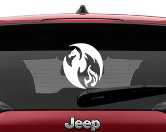 Fire Dragon Laptop Decal | Fire Dragon Car Decal | Fire Dragon Tumbler Decal