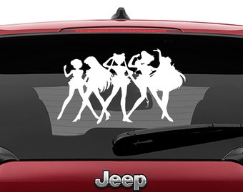 Sailor Moon Senshi Warriors Vinyl Decal | Sailor Moon Tumbler Decals | Sailor Scouts Vinyl Decal