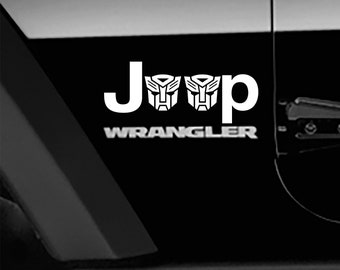 Transformers Autobot Logo Fender Side Decal Jeep Wrangler TJ Sticker 1 pair