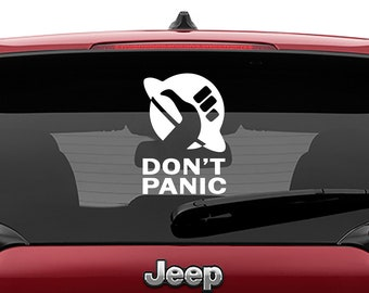 The Hitchhiker's Guide To The Galaxy Inspired Hitchhiking Thumb Logo Vinyl Decal