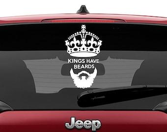 Kings Have Beards Vinyl Decal | Kings Have Beards Tumbler Decals | Kings Have Beards Laptop Decal