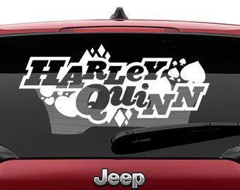Harley Quinn Logo Vinyl Decal | Harley Quinn Tumbler Decals | Harley Quinn Logo Laptop Decal