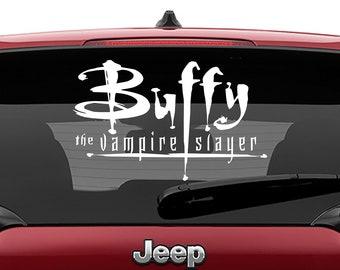 Buffy The Vampire Slayer Logo Vinyl Decal | BTVS Logo Tumbler Decals | BTVS Logo Laptop Decal