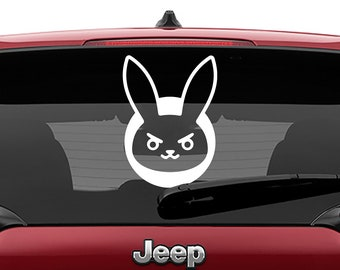 Overwatch D.V.A. Bunny Decal Vinyl Decal | Overwatch D.V.A. Bunny Tumbler Decals | Overwatch Laptop Decal