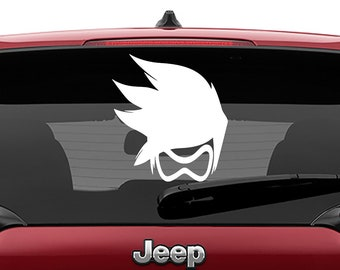 Overwatch Tracer Decal Vinyl Decal | Overwatch Tracer Tumbler Decals | Overwatch Tracer Laptop Decal