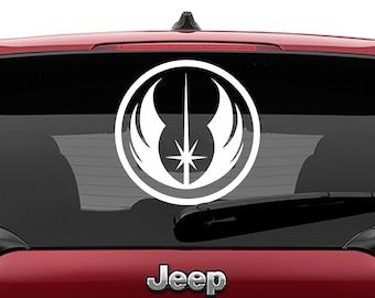 Star Wars Jedi Order Insignia Vinyl Decal | Jedi Order Logo Tumbler Decals | Jedi Order Insignia Logo Laptop Vinyl Decal