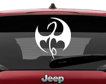 Immortal Iron Fist Decal Vinyl Decal | The Defenders Iron Fist Logo Tumbler Decals | Iron Fist Dragon Decal