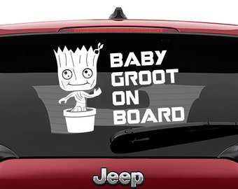 Baby Groot Decal | Groot Decal | Baby on Board Decal | Guardians Groot | Groot Baby | Baby on Board