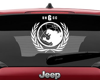 United Nations Godzilla Countermeasures Center Decal | Godzilla UNGCC Car Decal | Godzilla Round Laptop Vinyl Decal