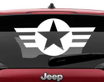 Army Navy Air Force Star Military Vinyl Jeep Decal | Military Star Tumbler Decals | Air force Star Laptop Vinyl Decal