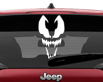 Spiderman Venom Face Vinyl Decal | Spider-Man Carnage Tumbler Decals | Venom Movie Logo Decal