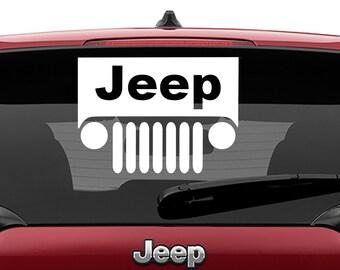 Jeep Windshield Vinyl Decal | Jeep Windshield Tumbler Decal | Jeep Windshield Laptop Vinyl Decal