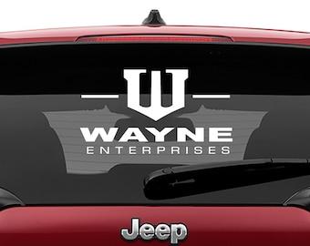 Batman Wayne Enterprises Vinyl Decal | Wayne Enterprises Tumbler Decals | Wayne Enterprises Laptop Decal