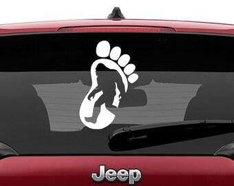 Sasquatch Foot Print Vinyl Decal | Big Foot Foot Print Decal | Sasquatch Foot Print Laptop Decal