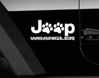 Animal Paw Fender Side Decal Jeep Wrangler TJ Sticker 1 pair