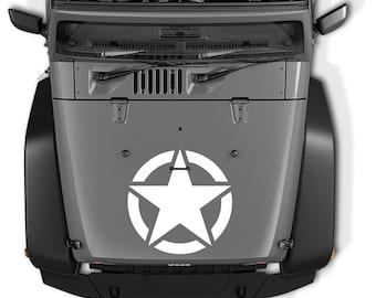 Jeep Wrangler Oscar Mike Army Star Vinyl Decal