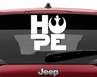 Star Wars Rebel Hope Vinyl Decal | Rebel Hope Logo Tumbler Decals | Rebel Hope Logo Laptop Decal