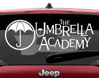 Umbrella Academy Logo Decal | Umbrella Vinyl Sticker Decal Umbrella Academy Comic Book Sticker