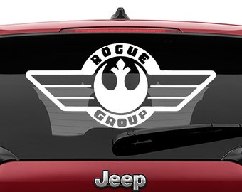 Star Wars Rogue One Group Insignia Vinyl Decal | Rogue One Group Tumbler Decals | Star Wars Rogue One Group Decal