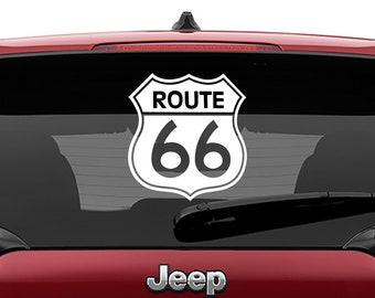Route 66 Road Sign Vinyl Decal | Route 66 Road Sign Tumbler Decal | Route 66 Road Sign Laptop Decal