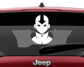 Aang Avatar The Last Airbender Decal | Aang Avatar The Last Airbender Tumbler Decal | Aang Avatar The Last Airbender Laptop Decal