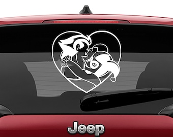 Mad Love Joker & Harley Decal | Joker and Harley Tumbler Decal | Classic Harley Quinn Laptop Decal