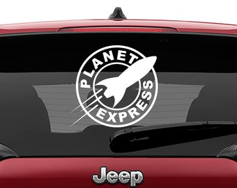 Futurama Planet Express Logo Decal | Futurama Planet Express Logo Tumbler Decal | Futurama Planet Express Logo Laptop Decal