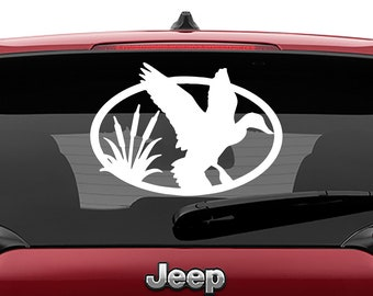 Duck Oval Laptop Decal | Duck Oval Car Decal | Duck Oval Tumbler Decal