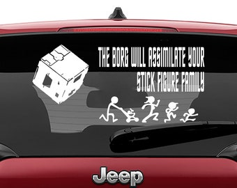 Star Trek Inspired The Borg Will Assimilate Your Stick Figure Family Vinyl Decal