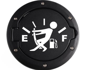 Funny Gas Gauge Decal | Not Quite Empty Car Sticker | Jeep Gas Guzzler Die Cut Vinyl Decal