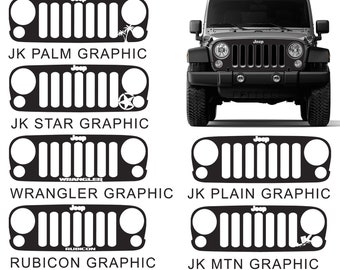 Jeep Wrangler JK Blackout Grill Cover Vinyl Decal Graphic
