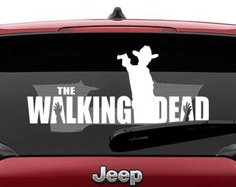 Walking Dead Rick Grimes Decal | WD Rick Grimes Tumbler Decal | Rick Grimes Laptop Decal