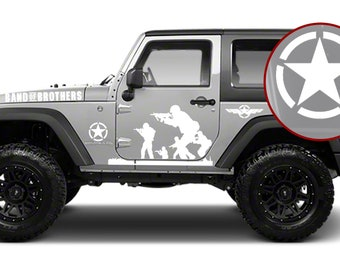 Jeep Wrangler Band of Brothers US Army Vinyl Decal Kit