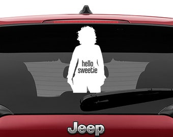 River Song Hello Sweetie Vinyl Decal | River Song Hello Sweetie Tumbler Decals | River Song Hello Sweetie Laptop Decal