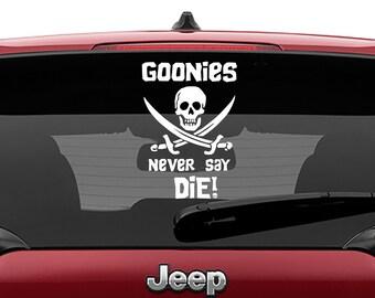 Goonies Inspired Jolly Roger Goonies Never Say Die Vinyl Decal