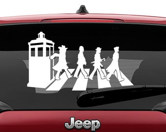 Doctor Who Inspired Abbey Road Vinyl Decal | Dr Who Abbey Rd Tumbler Decals | Doctor Who Abbey Road Laptop Vinyl Decal