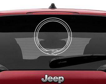 Ouroboros Symbol Logo Decal | Ouroboros Symbol Logo Tumbler Decal | Ouroboros Symbol Logo Laptop Decal