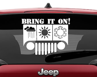 Bring It On Jeep Vinyl Decal | Eat Sleep Jeep Tumbler Decal | Bring It On Jeep Laptop Vinyl Decal