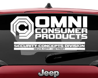 Omni Consumer Products Delta City Decal | Robocop Omni Consumer Products Tumbler Decal | Omni Consumer Products Laptop Decal