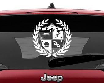 Umbrella Academy Crest Decal | Umbrella Sigil Vinyl Decal | Umbrella Academy Crest Comic Book Sticker