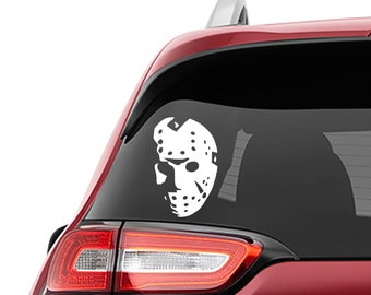 Friday 13th Jason Voorhees Hockey Mask Vinyl Decal | Friday 13th Hockey Mask Tumbler Decals | Hockey Mask Laptop Decal