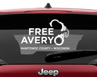 Making a Murderer Inspired Free Avery Vinyl Decal