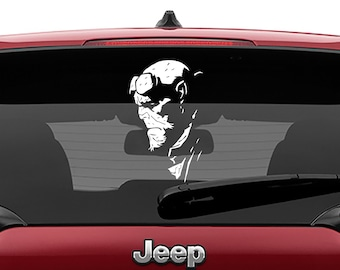 Hellboy Profile Vinyl Decal Laptop Sticker