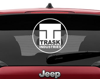 X-Men Trask Industries Logo Vinyl Decal | Round Trask Industries Tumbler Decals | Trask Industries Laptop Decal